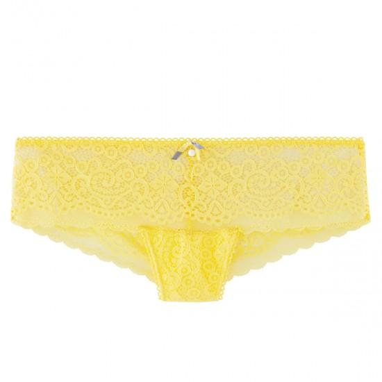 Жълти дантелени боксерки TAPAGEUSE