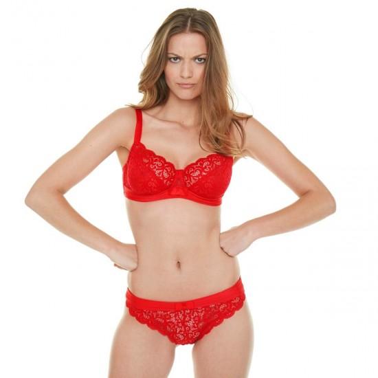 Червени бикини с дантела INNOCENTE ROUGE