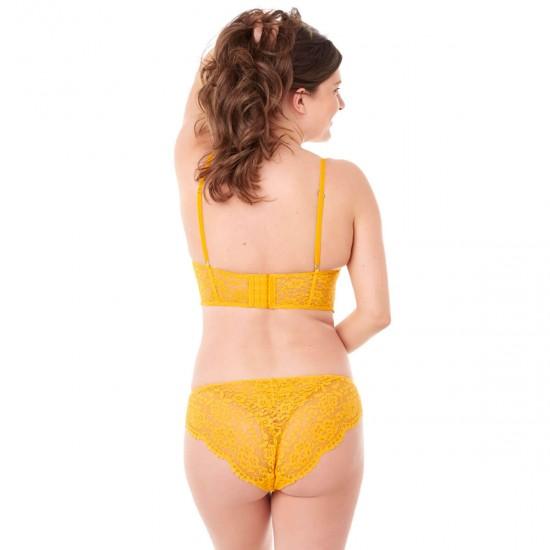 Жълт сутиен без подплънки PETILLANTE